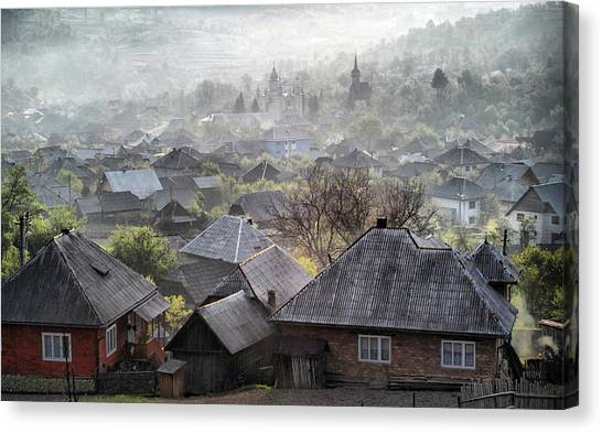 Town Canvas Print - Spring Morning by Andrei Nicolas -