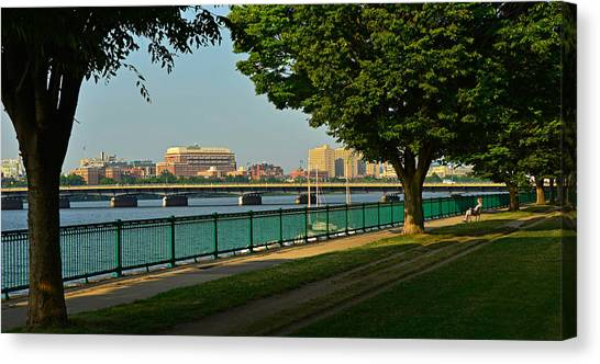 Patriot League Canvas Print - Spring Morning By The Charles River by Ken Stampfer