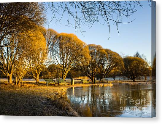Spring Morning In The Park Canvas Print