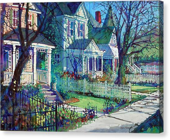 Spring Morning On East Street Canvas Print