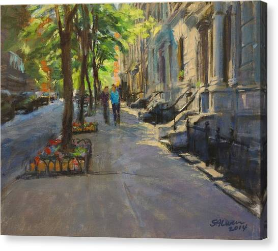 Spring Morning On West 85th Street Canvas Print