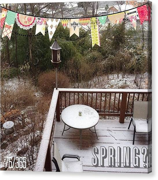 Storms Canvas Print - Spring? Nope It's Winter Storm Wiley by Teresa Mucha