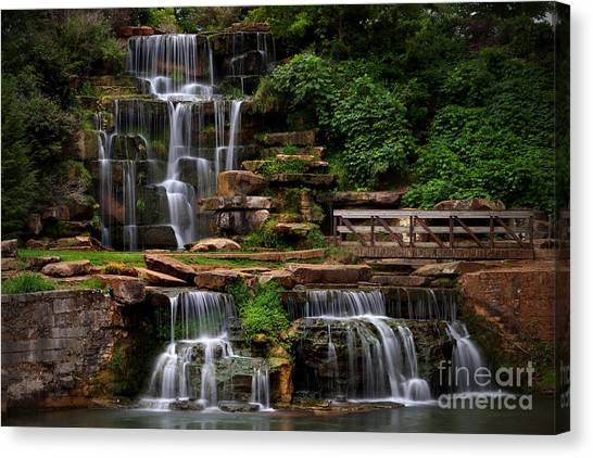 Canvas Print featuring the photograph Spring Park Falls by T Lowry Wilson