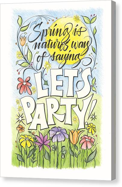 Spring Party Canvas Print