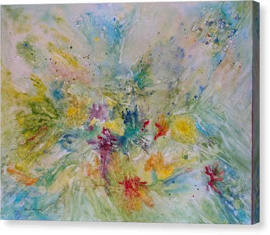 Spring Rain Canvas Print by Rosie Brown
