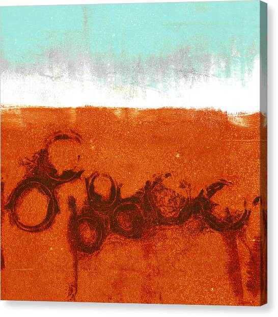 Abstraction Canvas Print - Spring Rains by Carol Leigh