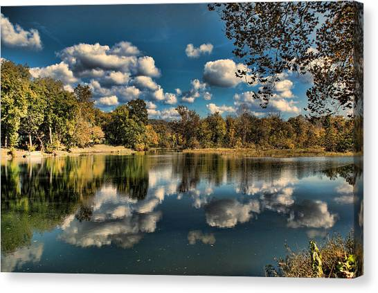 Spring River Autumn Canvas Print