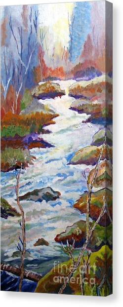 Spring River Rushing Canvas Print by Frank Giordano