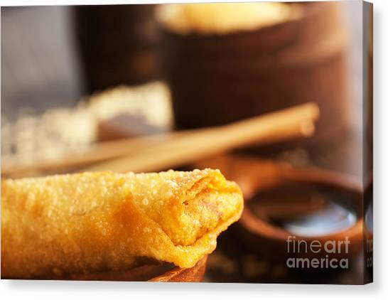 Spring Roll Canvas Print by Mythja  Photography