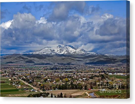 Spring Snow On Squaw Butte Canvas Print