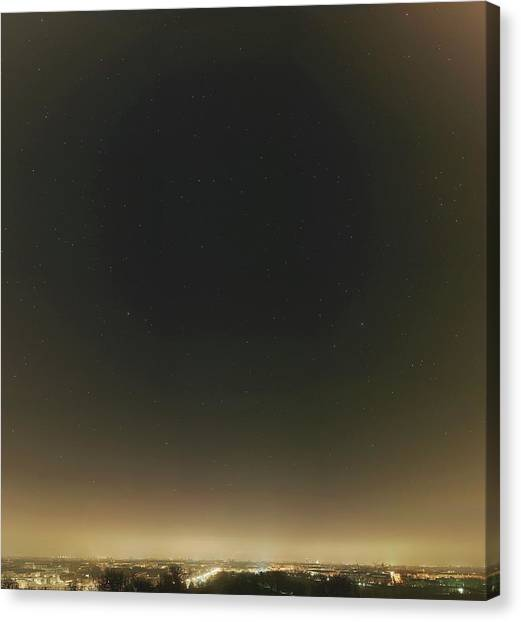 Pollution Canvas Print - Spring Stars And Light Pollution by Eckhard Slawik