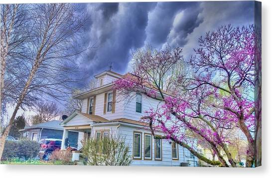 Spring Storm Canvas Print by Larry Bodinson