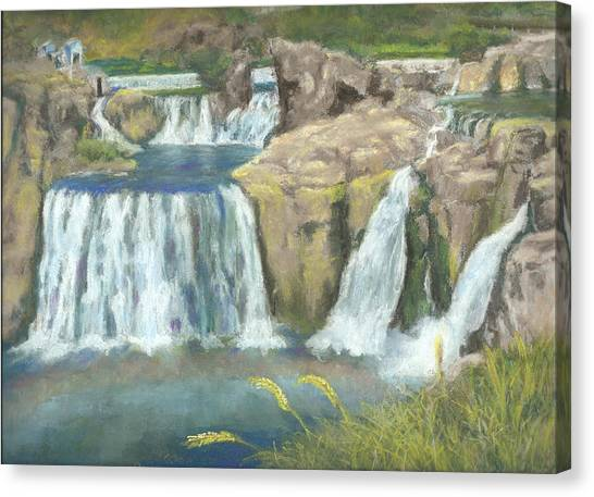 Spring Thaw At Shoshone Falls Canvas Print