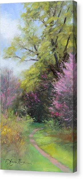 Plein Air Canvas Print - Spring Trail by Anna Rose Bain