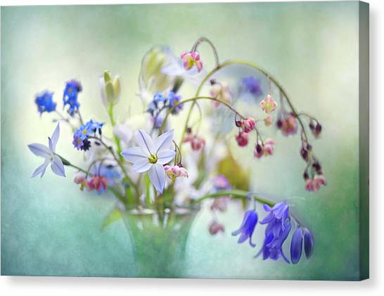 Flower Bouquet Canvas Print - Spring Treasures by Jacky Parker