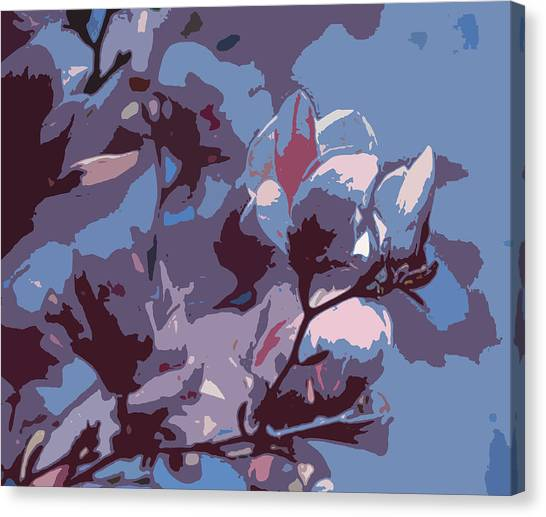 Spring Tulip Tree Abstract Canvas Print