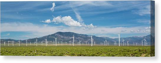 Solar Farms Canvas Print - Spring Valley Wind Farm by Jim West/science Photo Library