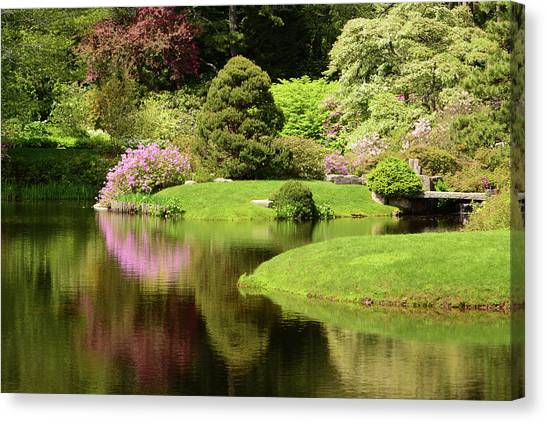Canvas Print - Spring View Of Azaleas In A Japanese by Darlyne A. Murawski