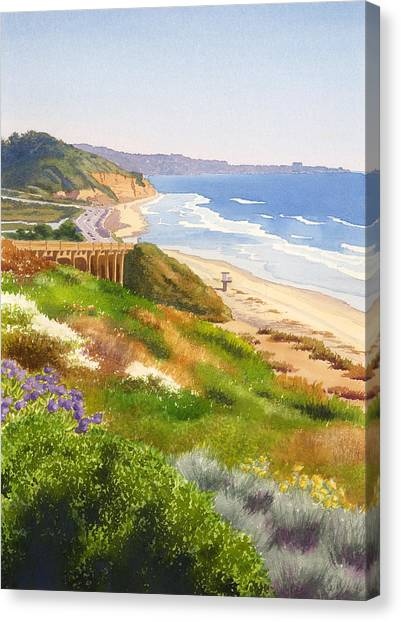 Planet Canvas Print - Spring View Of Torrey Pines by Mary Helmreich
