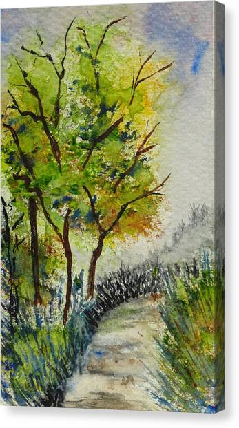 Spring Walk Canvas Print by Catherine Arcolio