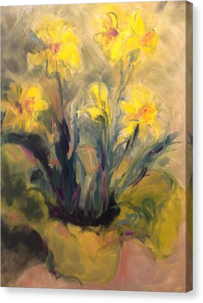 Spring Yellow Canvas Print