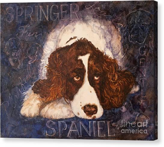 Springer Spaniel - Best Friend Canvas Print