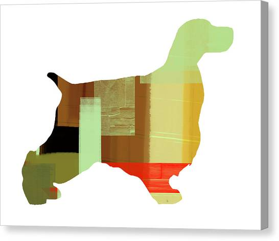 Spaniels Canvas Print - Springer Spaniel  by Naxart Studio