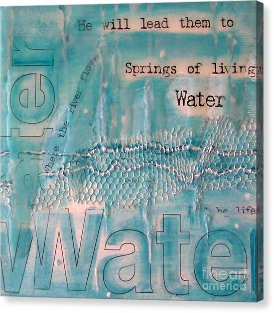 Springs Of Living Water Canvas Print