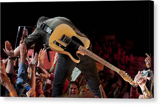 Springsteen In Charlotte Canvas Print