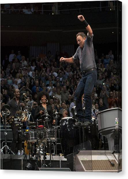 Springsteen In Motion Canvas Print