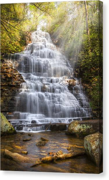 Springtime At Benton Falls Canvas Print