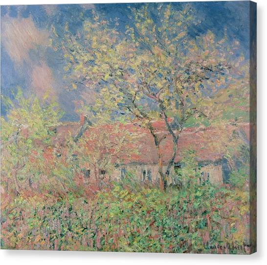 Orchard Canvas Print - Springtime At Giverny by Claude Monet
