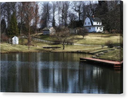 Farmhouse Canvas Print - Springtime In Ohio by Tom Mc Nemar