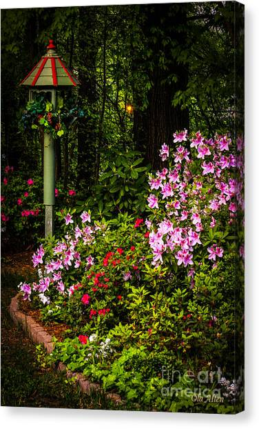 Springtime In The Garden  Canvas Print