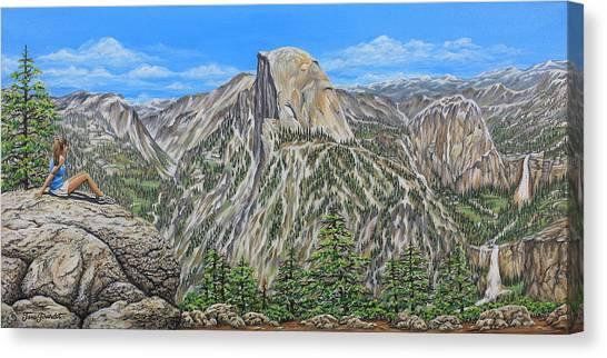 Springtime In Yosemite Valley Canvas Print