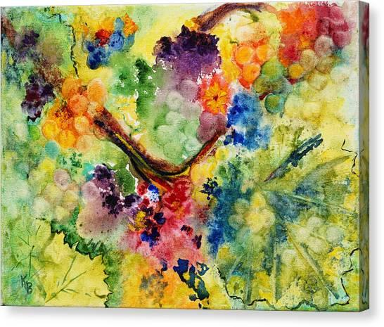 Canvas Print featuring the painting Springtime by Karen Fleschler