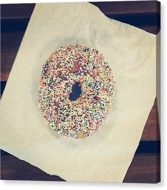 Doughnuts Canvas Print - Sprinkles! #doughnut #instafood by TC Li