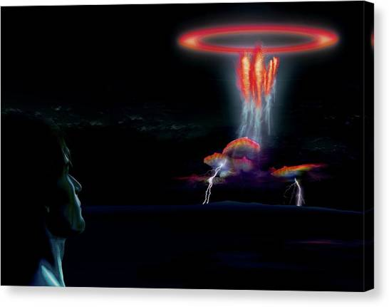 Sprite Canvas Print - Sprite Electrical Storm by Mikkel Juul Jensen / Science Photo Library