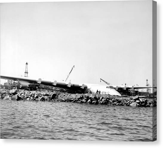 Seaplanes Canvas Print - Spruce Goose Ready To Launch by Underwood Archives