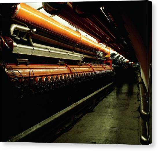 Cavity Canvas Print - Sps Accelerator At Cern by Heini Schneebeli/science Photo Library
