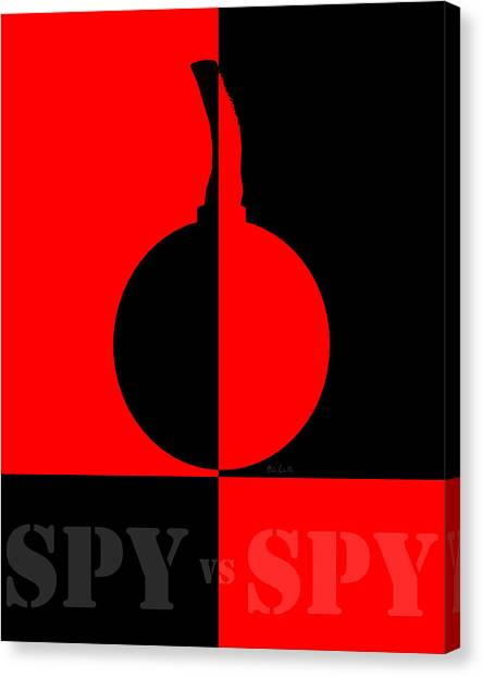 Nsa Canvas Print - Spy Vs Spy by Bob Orsillo