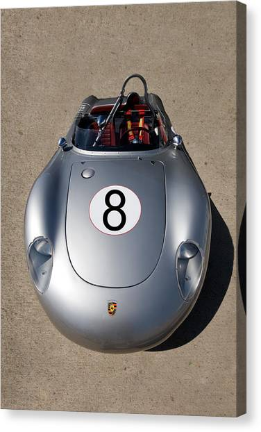 Spyder Race Car Canvas Print by Peter Tellone