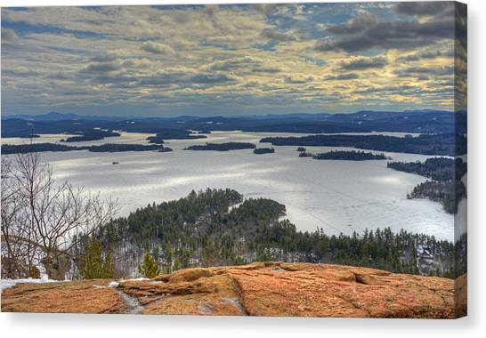 Squam Lake In February Canvas Print