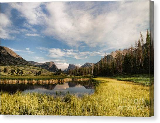 Square To At Green River Canvas Print