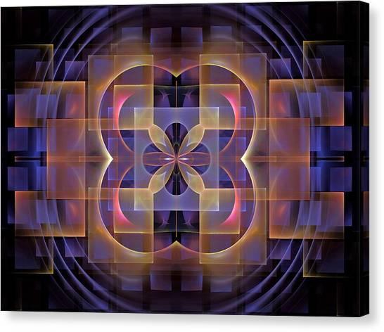 Bachelorette Canvas Print - Squares-center-1bb by Bill Campitelle