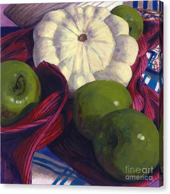 Squash And Apples Canvas Print