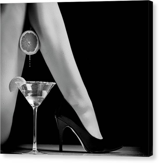 Martini Canvas Print - Squeeze by Howard Ashton-jones