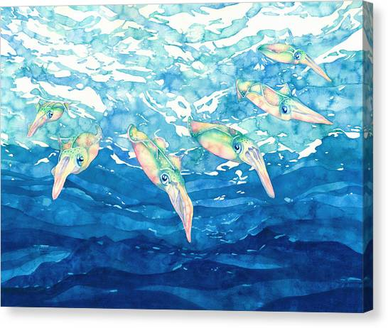Squid Ballet Canvas Print
