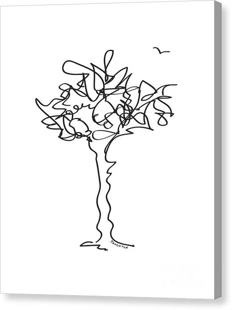 Squiggle Tree 1 Canvas Print
