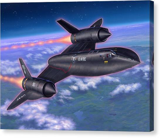 Blackbirds Canvas Print - Sr-71 Blackbird by Stu Shepherd